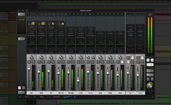 Tracking in real time with UAD plug-ins