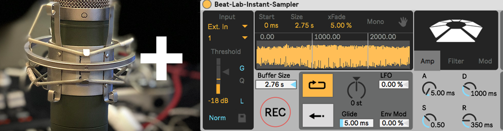 Instant fun with audio recordings – grab Beat Lab Academy's Max for Live sampler for free.