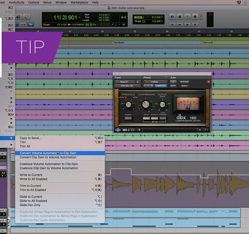 Convert Pro Tools Volume Automation To Clip Gain