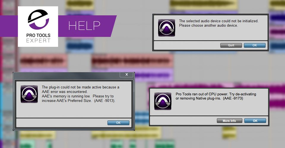 5 Common Pro Tools Error Codes What They Mean