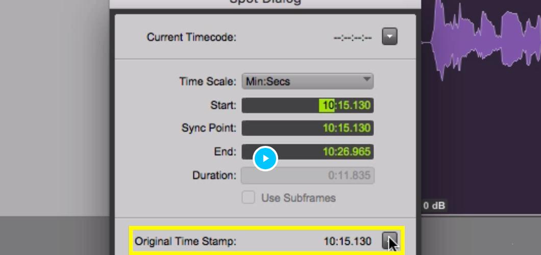 Spot To Original Timestamp