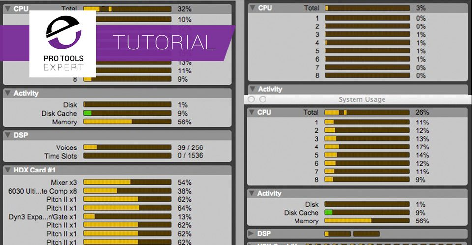 Understanding Pro Tools System Usage Meters